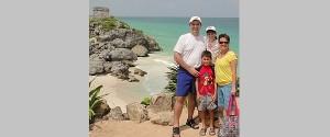 Zonas arqueológicas con la familia