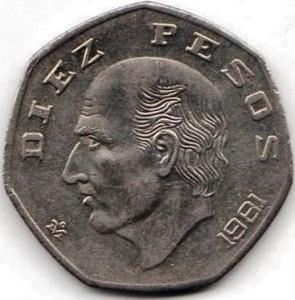 Diez pesos mexicanos - hidalgo