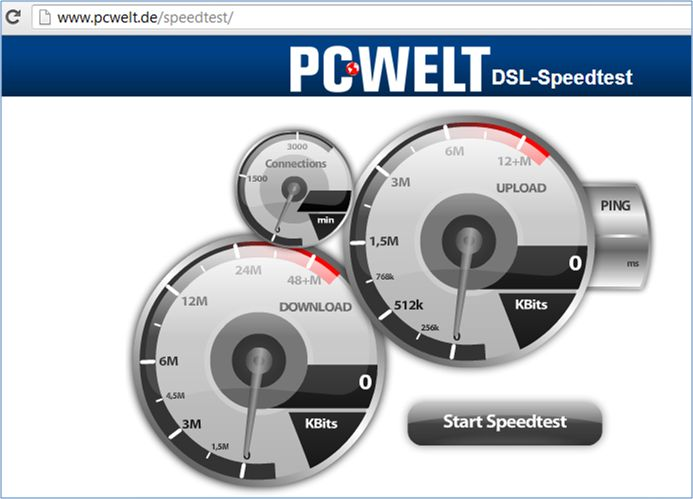 DSL SpeedTest Guia de uso