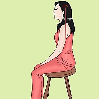 Ejemplo de postura erguida al sentarse