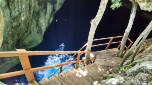 Entrada al cenote Pixyáh, Tecoh, Yucatán