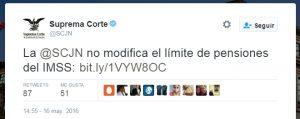 Twitter suprema corte de justicia de la nación scjn