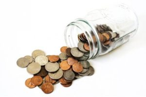 Frasco con Monedas