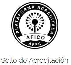 Sello acreditación AFICO plataforma fondeo colectivo