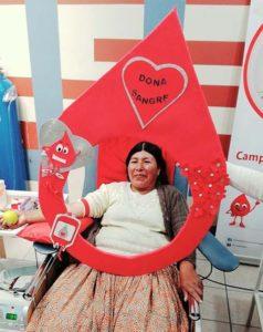 Donadora altruista de sangre