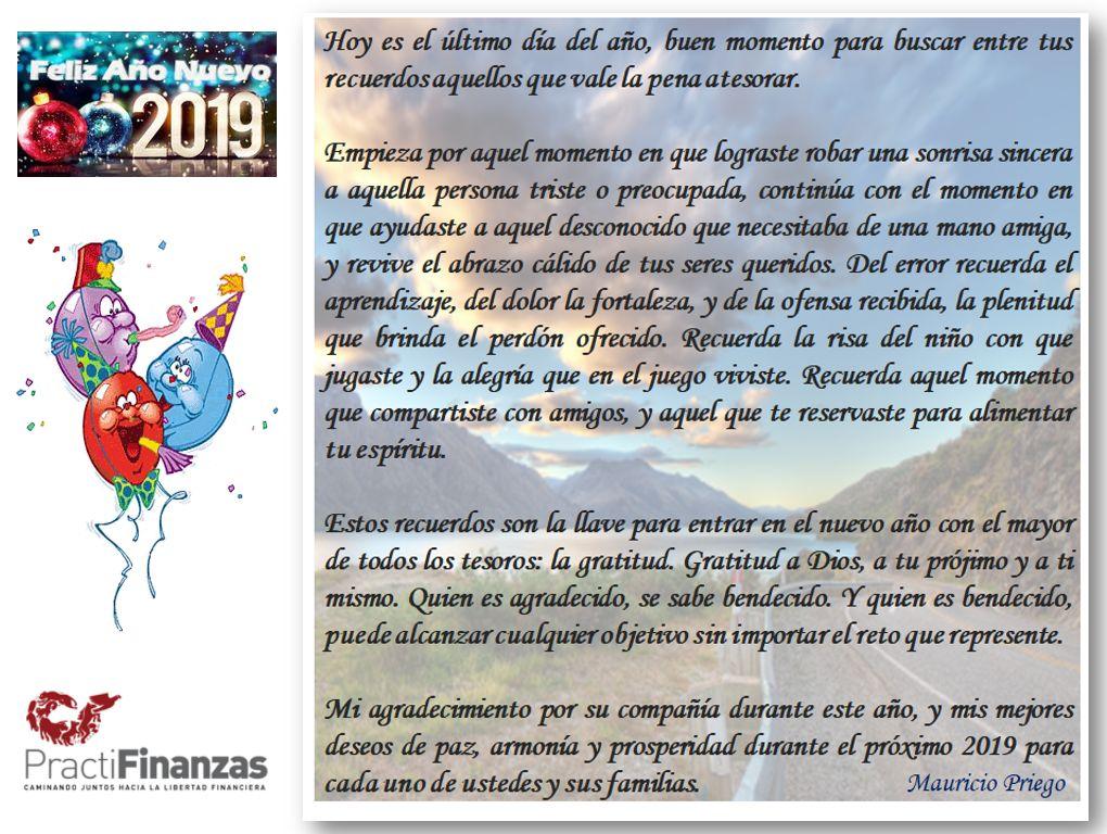 Mensaje año nuevo 2019