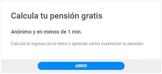 Calculadora pensión ley 73